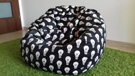 Enjoyable Bean Bag Chair Cover Inner Bag Bean Bag Chair Large Bean Bag Adult Bean Bag Teen Child Black And White Bean Bag Pouf Kids Bean Bag Cjindustries Chair Design For Home Cjindustriesco