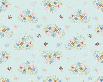 "Cotton Fabric Flower Pattern by the yards 44/"" Cozy Dainty Little Flower"