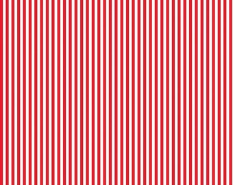 Red Striped Fabric Etsy