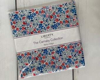 """The Carnaby Collection, Retro Indigo 10"""" Stacker (42 pieces), by Liberty Fabrics for Riley Blake, 10-04775940A-42"""