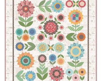 Flea Market Flowers Quilt Kit by Lori Holt of Bee in My Bonnet for Riley Blake, Sew Along Quilt KIt