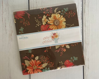 """Adel in Autumn 10"""" Stacker (42 pieces) by Sandy Gervais for Riley Blake Designs, Fall Fabric, 10-10820-42"""
