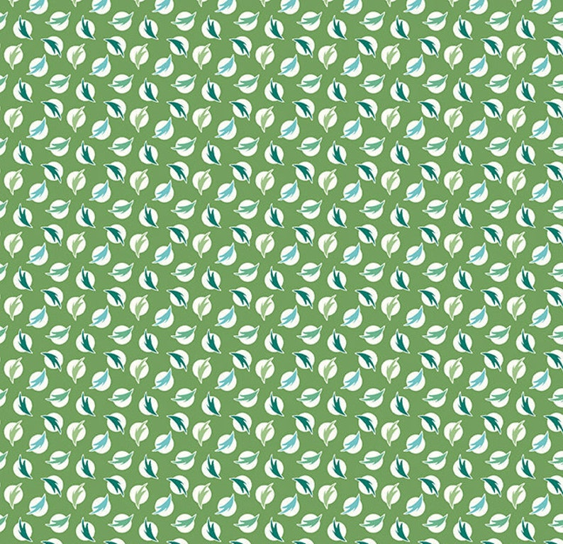 12 Yard Flea Market Feathers Clover C10226-CLOVER Lori Holt for Riley Blake Cut Continuously