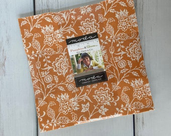 Pumpkins & Blossoms Layer Cake (42 pieces) by Fig Tree and Co for Moda Fabrics, Fall Fabric, 20420LC