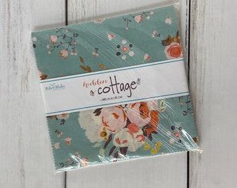 """Hidden Cottage 10"""" Stacker (42 pieces) by Minki Kim for Riley Blake Designs, 10-10760-42"""