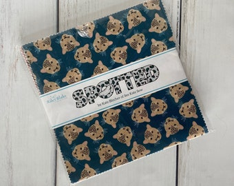 """Spotted 10"""" Stacker (42 pieces) by Kate Blocher for Riley Blake Designs, Fall Fabric, 10-10840-42"""