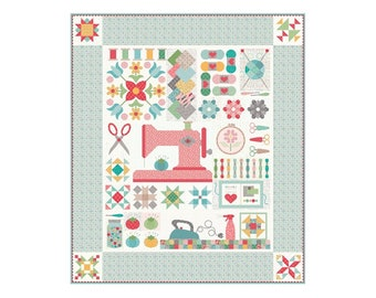My Happy Place Quilt Kit featuring Stitch by Lori Holt for Riley Blake Designs, Sew Along with Lori Holt