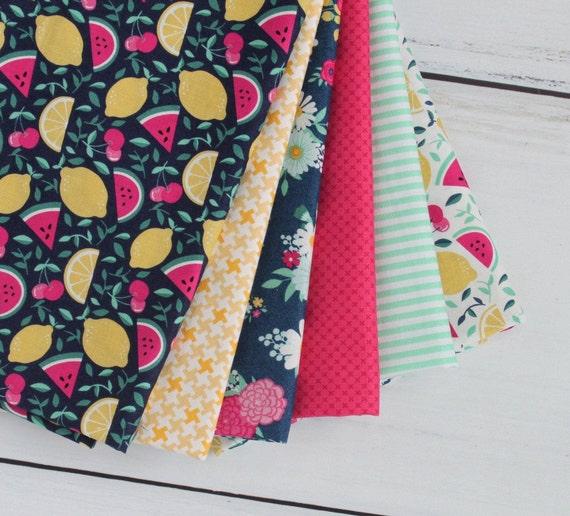 1/2 Yard Fabric Bundle, Summer Bundle, (6 pieces)