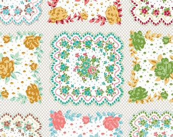 Granny Chic Handkercheif Multi by Lori Holt Bee in my Bonnet for Riley Blake Designs, 1/2 Yard - Cut Continuously, C8526-MULTI