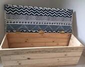 Reclaimed wooden ottoman