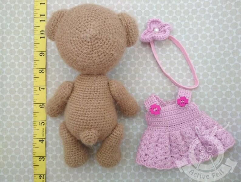 Crochet Bear Amigurumi Soft Baby Toy Knitted Bear Toy Toddler Gift Knitted Baby Bear Toy Stuffed Animal Doll