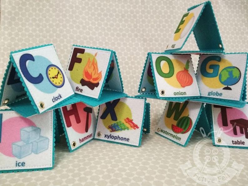 5b813da428df57 ABC Felt Flash Cards Learning English Alphabet ABC