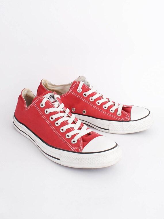 taille men baskets taylor 42 5 chuck 5 US 8 EU chaussures allstars 10 rouge Star 8 toile de uk Converse haut rouge Chuckies low womens 5 All PxpaS