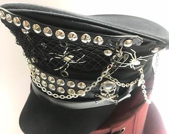 8ff3a9c00 Black military hat | Etsy