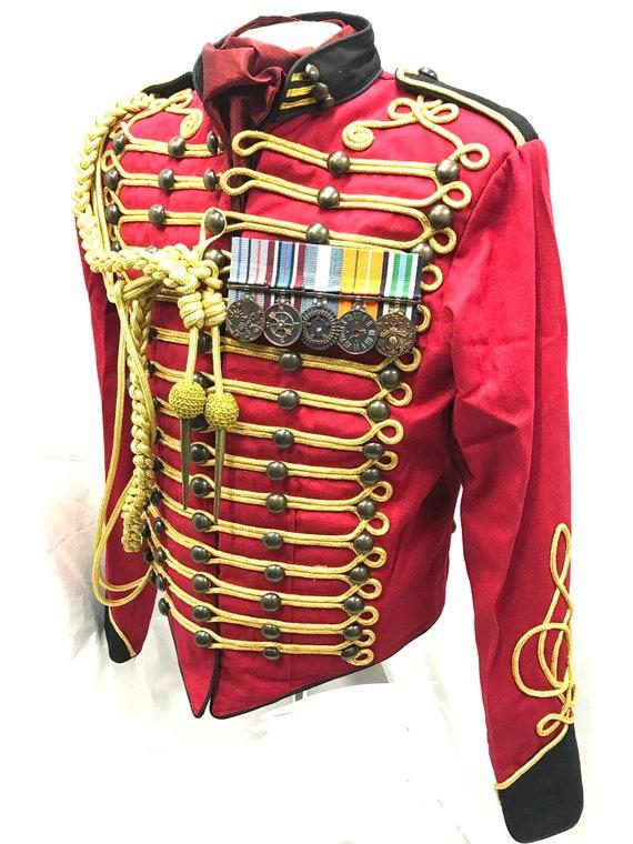 Homme Veste Or Militaire Rougeetsy Hussard Et Noir Dee9ywbh2i Officier 1lJcTK3F