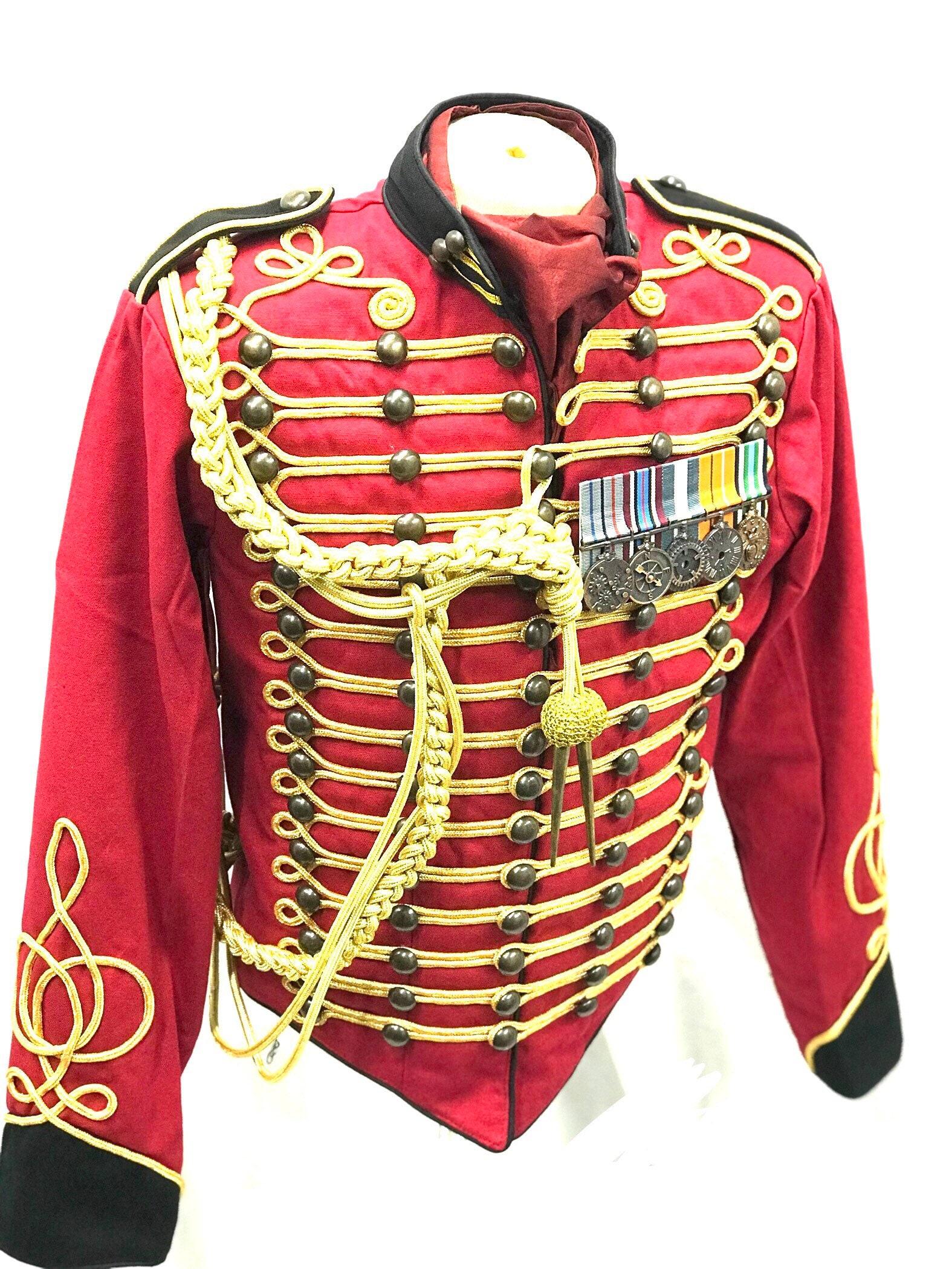 Militaire Militaire Officier Veste Rouge Etsy Etsy Homme Or Hussard Noir Et Bqwx1UT16