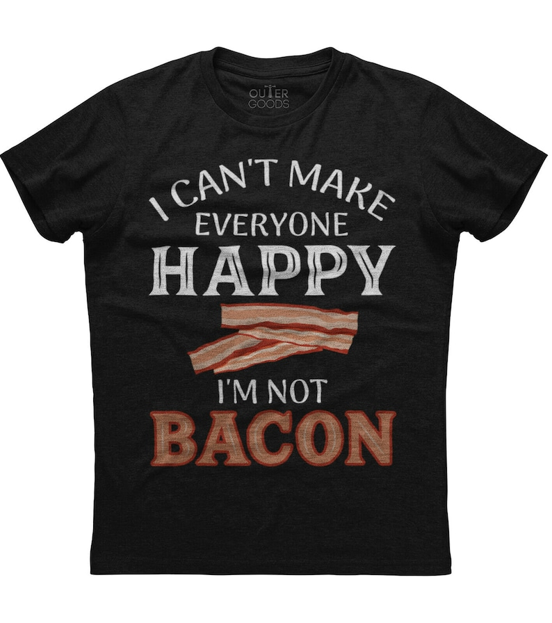 I Can/'t Make Everybody Happy Mens Short Sleeve New Cotton Black T-shirt