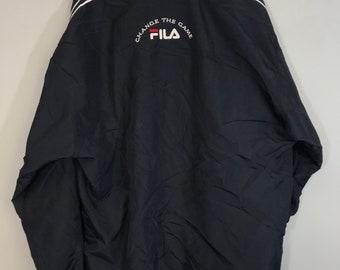 43cfcc3bbc4c Vintage 90 s Retro Fila full-zip windbreaker spellout jacket
