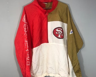 Vintage 90 s Retro San Fransisco 49ers NFL windbreaker jacket ab34bbbcce8