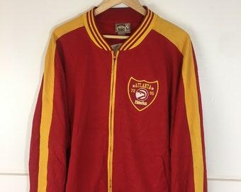 7f4334649 Vintage 90 s Retro Atlanta Hawks Sweater jacket