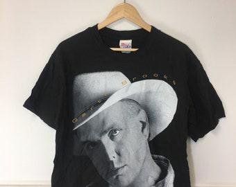 916fd377 Vintage 90's Retro Garth Brooks Graphic Tee Shirt