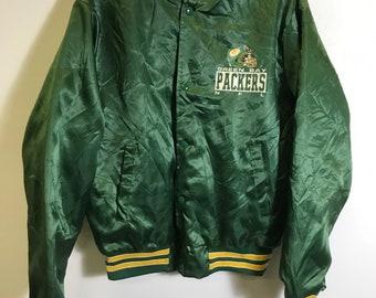 newest 59231 38848 Packers satin jacket | Etsy