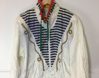 54cdd764af3e6 Vintage 90 s Retro Giacca Sport Full Zip Light Jacket