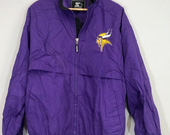 Vintage 90 s Retro Minnesota Vikings NFL light track jacket b171e3612