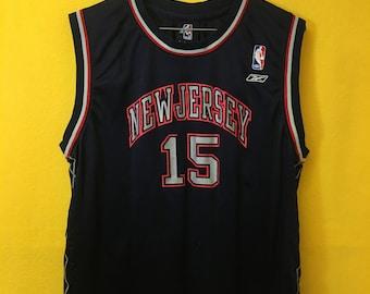 1e16d6449fe Vintage 90's Retro New Jersey nets NBA Carter jersey