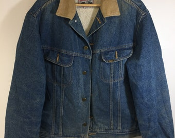 1f74e469 Vintage 90's Retro Lee Storm Rider Full Button Shirpa Jacket
