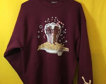 5443e0f5c Vintage 90's Retro Pop Art coco-cola replica graphic sweater