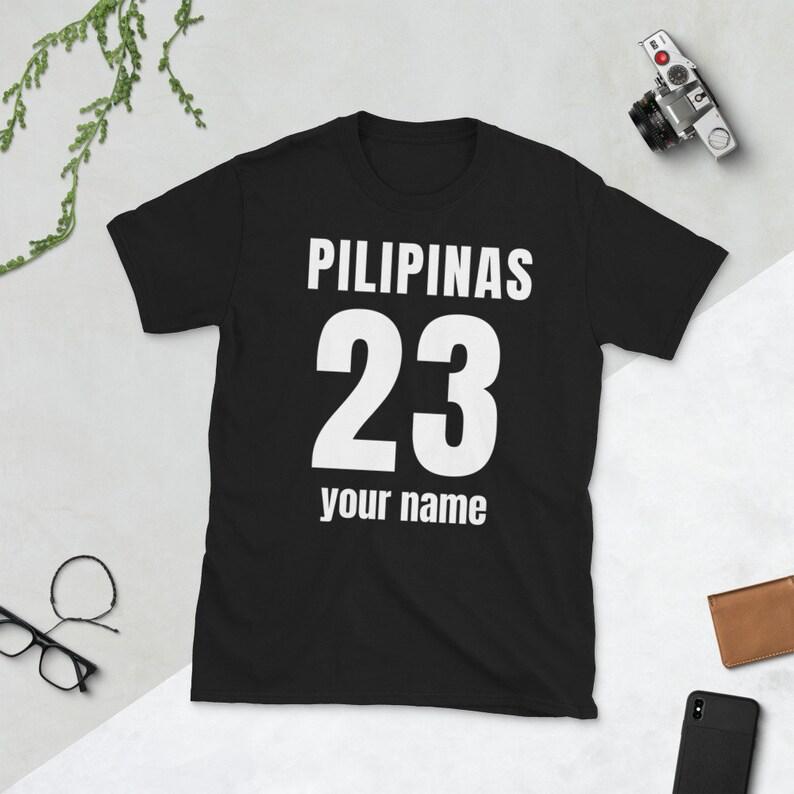 Customized Filipino Tshirts Personalized Philippines Pride T Shirt  Short-Sleeve Unisex T-Shirt