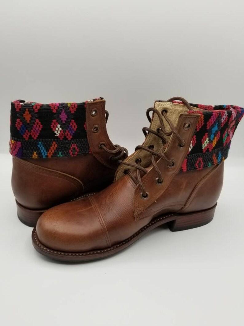 Lace Up Boots Guatemalan Boots Guatemalan Lace Up Booties Guatemalan Boots Women Booties with Laces Women Boots Women Shoes