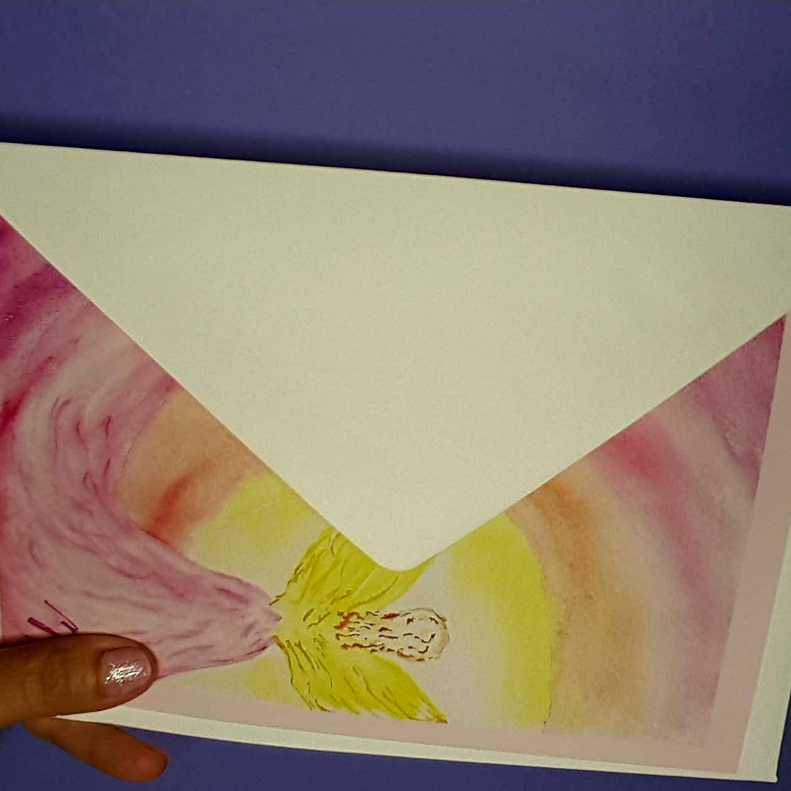 angel card angel picture greeting card xl size approx 14