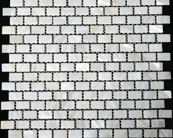 Natural sea shell mosaic MOP004 Mother of pearl tile kitchen backsplash subway pearl shell tiles mother of pearl bathroom tile
