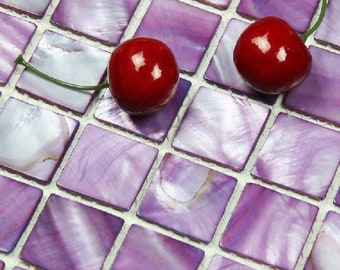Dying Purple Mother of pearl shell tile for kitchen backsplash MOP047 stained mother of pearl bathroom shower tile