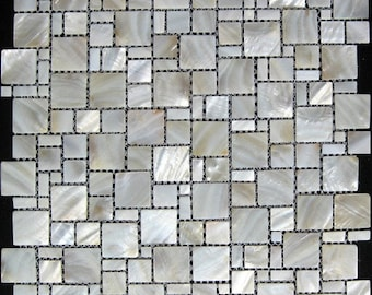 Mother of pearl tile kitchen backsplash MOP064 pearl white shell mosaic bathroom tile mother of pearl tiles