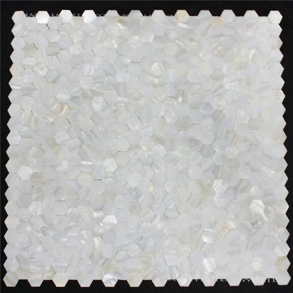 Natural shell mosaic tile mother of pearl kitchen backsplash wall groutless tile