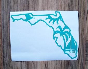 Florida The Sunshine State Vintage Decal Sticker Souvenir