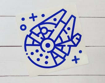 Star Wars Inspired Decal / Disney Inspired Decal / Millennium Falcon Decal / Car Decal / Laptop Sticker / Tumbler Decal /