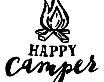 c er vinyl decal etsy Pop Up Camping happy c er vinyl decal
