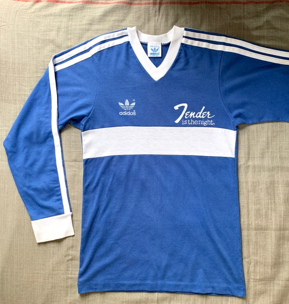 size 40 special sales uk availability Tender is the night on vintage Adidas Trefoil L/S Tee from 80's