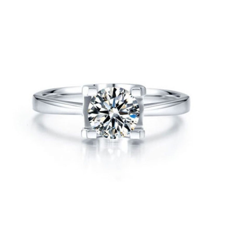 Loose 14k White Gold Moissanite Ring Engagement Ring Engagement Ring Moissanite engagement ring engagement ring Moissanite
