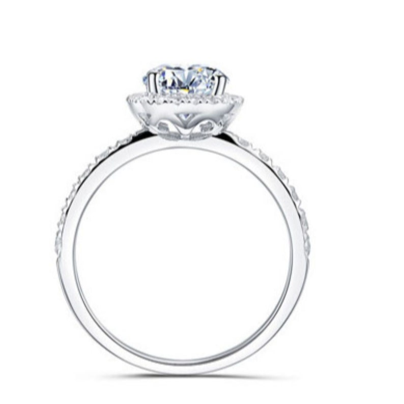 Engagement Ring Loose Moissanite engagement ring Moissanite 14k White Gold Moissanite Ring Engagement Ring engagement ring
