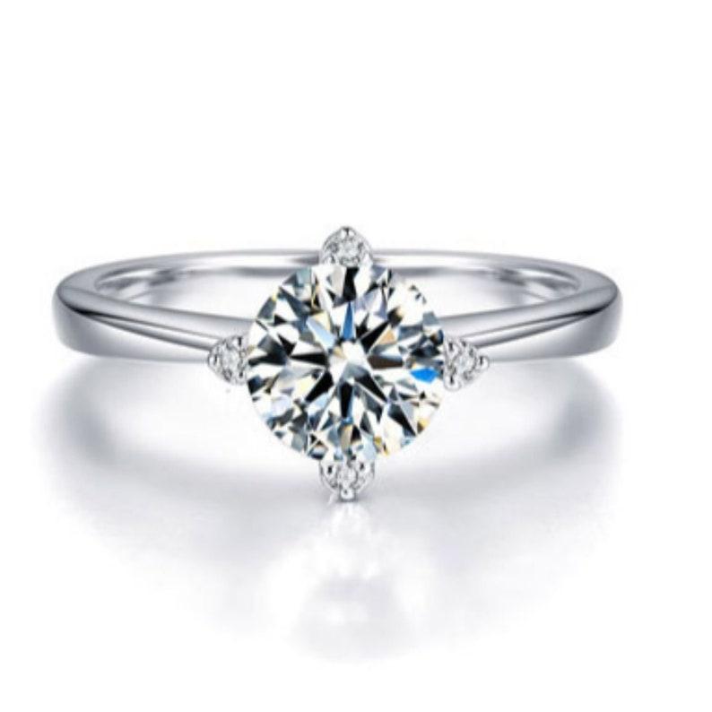 engagement ring Moissanite engagement ring Moissanite Loose 14k White Gold Moissanite Ring Engagement Ring Engagement Ring