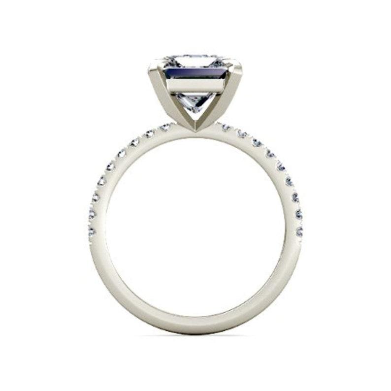 Loose 14k White Gold Moissanite Ring Engagement Ring Moissanite engagement ring Engagement Ring engagement ring Moissanite