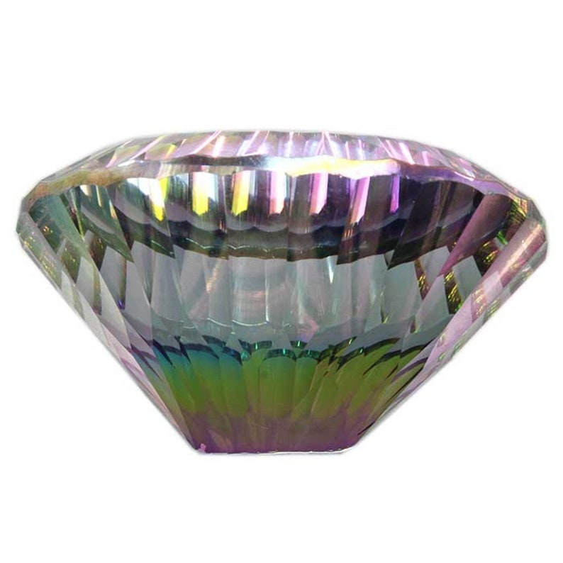 142.35Cts Rainbow Mystic Topaz Loose oval Concave Cut  Gemstone