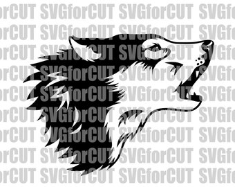 Wolf Silhouette Logo Vector SVG Head Cutting Cute Files Laser | Etsy