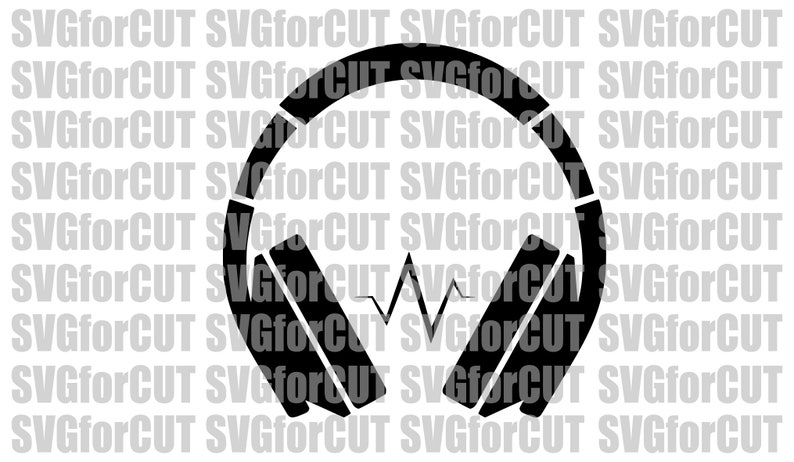 Headphones SVG Beats Music Sound Audio Melody Media Style Mic Device DXF  PNG Vector Cut file Printable Clip Art Cricut Cutting Silhouette