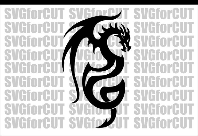 graphic about Dragon Stencil Printable identify Dragon Celtic Silhouette Emblem Vector Cricut SVG Slicing Adorable Document Laser Cutter Printable DXF Template Clipart PNG Plasma Wings Dragon